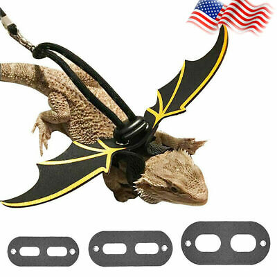 Reptile Lizard Gecko Bearded Dragon Harness And Leash top Strap Adjustable G3Y6
