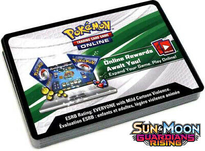 50x Pokemon TCG PTCGO Guardians Rising ONLINE CODE CARDS Delivered IN GAME FAST