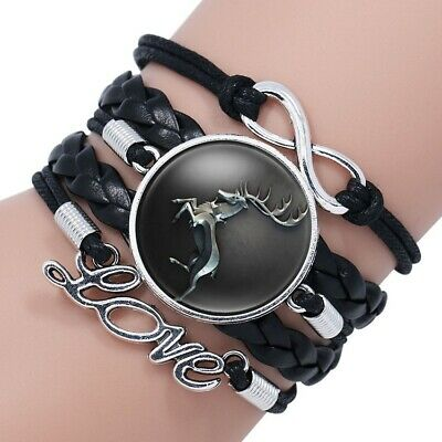 New Game Of Thrones Family Icon Song Of Ice And Fire Time Gem Cowhide Bracelet