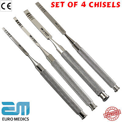 Dental Chisels Straight-Curved Osteotom Surgical Ridge Bone Splitting Extraction