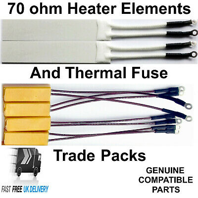 GHD Heater Elements 70 ohm and Thermal Fuse BULK TRADE PACKS FROM 15 TO 150 PCE