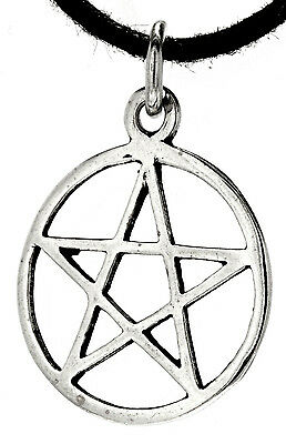 Pentagram Protection Magic 925 Sterling Silver Pendant Incl. Cotton Ribbon No.