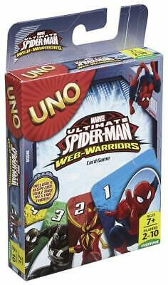 Card Game Mattel UNO Ultimate Spider-Man Web-Warriors Game For Kids & Family
