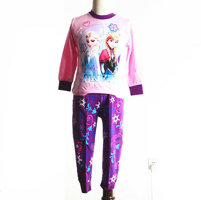 Cotton ANNA& ELSA Girls Pajamas Sleepwear Set Pajama Outfit Cloth Kids Nightie