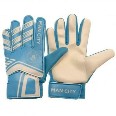 Manchester City FC Goalkeeper Gloves Goal Keeper Goaly Padded With Velcro Xmas
