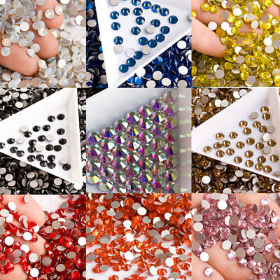 High Quality 3D Nail Art Rhinestones Czech Crystal Flatback Non Hotfix All Color