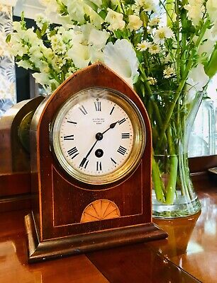 Sumtuous Little Mahogany Cased Clock By W J Carroll Of London
