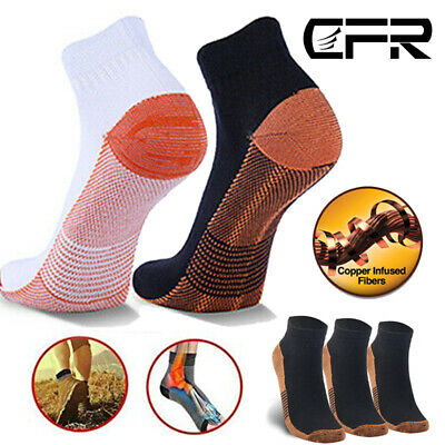 Copper Compression Socks Ankle Support Foot Brace Sports Joint Pain Arthritis