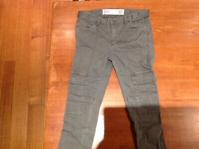 cotton on cargo pants girls green size 10