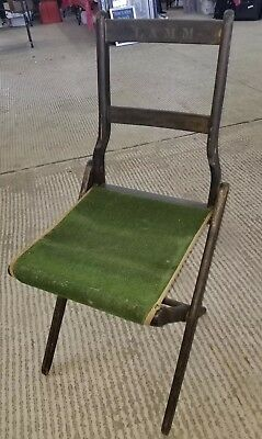 "Vintage•Folding•Wood Camping Chairs•Circa 1940's•Original Condition ""LAMM"""
