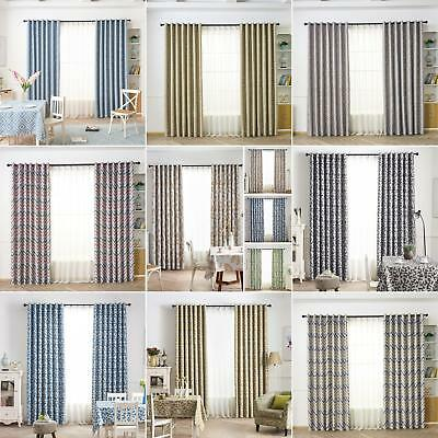 Ln_ Thermal Blackout Curtains Eyelet Ready Made Curtain Home Room Decor Drape