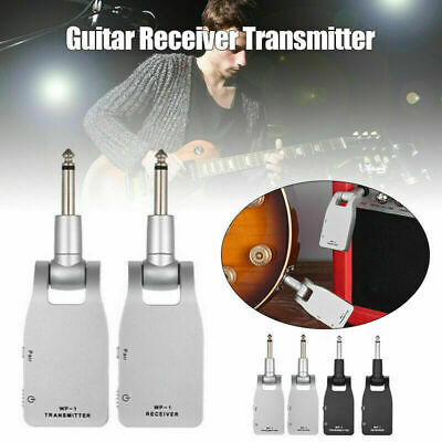 Portable UHF Wireless Guitar Transmitter and Receiver A5U3 Rechargeable SUP S9C6