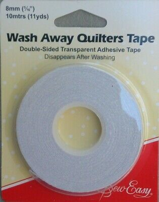 Quilters Wash Away Tape 8mm x 10 metres