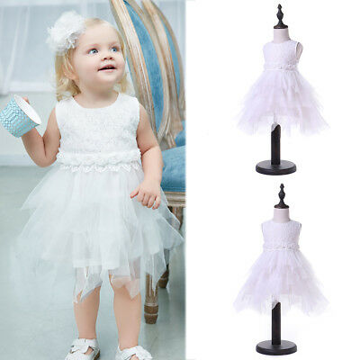 Ln_ Eg_ Kids Girl Princess Floral Embroidered Bowknot Party Sleeveless Tulle D