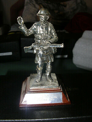 Royal Hampshire - Silver Plated Pewter ,The Black Watch Somme 1916