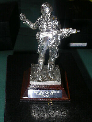 Royal Hampshire - Silver Plated Pewter The Royal Scots Gulf War 1990