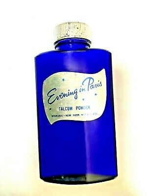 Vintage Bourjois Evening in Paris Perfume Talcom Powder Full Bottle 3-1/4 Oz