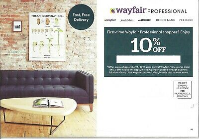 Wayfair Coupon, 10% Off First Order Only, Expires 9/15/19