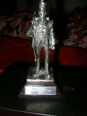 ROYAL HAMPSHIRE - SILVER PLATED PEWTER THE 21st REGIMENT OF FOOT 1814
