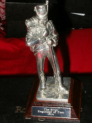 ROYAL HAMPSHIRE - SILVER PLATED PEWTER THE 87th REGIMENT OF FOOT 1814