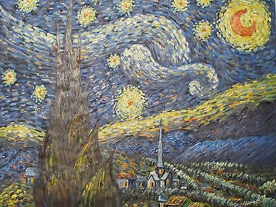 Vincent Van Gogh The Starry Night large oil painting canvas art reproduction 2