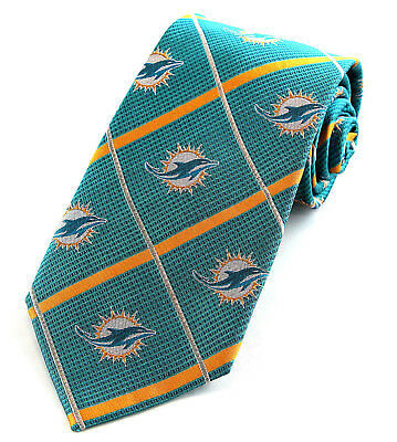 MIAMI DOLPHINS LICENSED NFL SILK TIE BY MARLIN 3739 s
