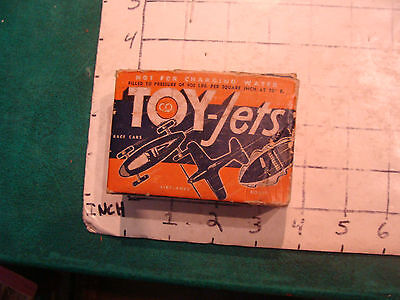 Vintage toy: early co2 TOY-JETS in box, 1950's very hard to find, partial box