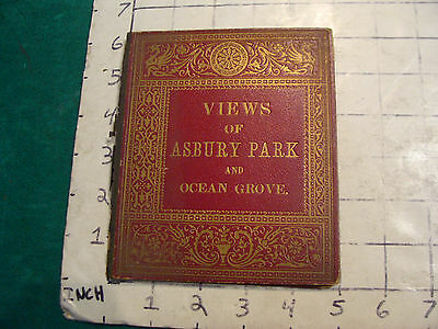 Vintage travel book: VIEWS of ASBURY PARK and OCEAN GROVE. 1800'S