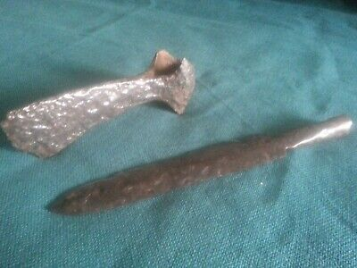 Collection of ancient weapons.Battle axe & Spear 100% original