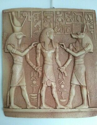 PHARAONIC Ancient Egyptian raised stone wall hanging plaque stone hieroglyphics