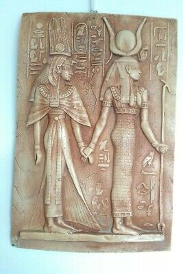 PHARAONIC Ancient Egyptian stone wall hanging plaque stone hieroglyphics Pharo