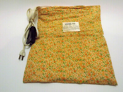 Vintage NECO 3 Heat Electric Heating Pad 819 Floral Cover Wet Waterproof 55W