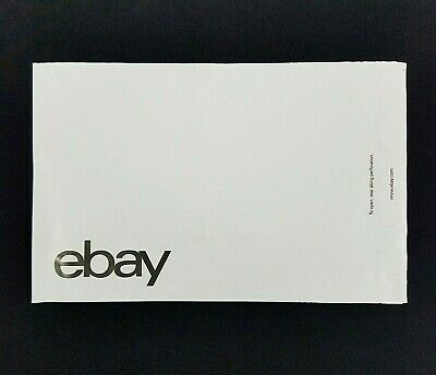 "Box of 100 eBay-Branded Polymailer With Black Print 9"" x 11.5"" (No Padding)"