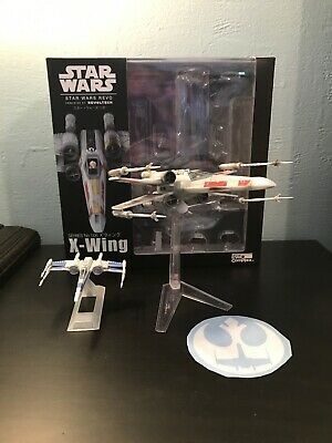 Star Wars Revoltech X-Wing W/ Rouge One Rebel Decal & Titanium Resistance X Wing