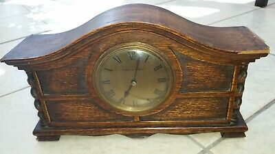 Mappin and Webb wooden mantle clock