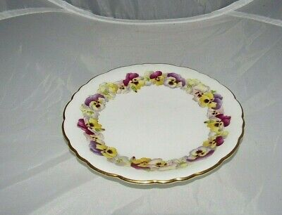 Antique Brown-Westhead Moore Co. #5452 Pansy Cauldon Ware Ceramic Saucer England