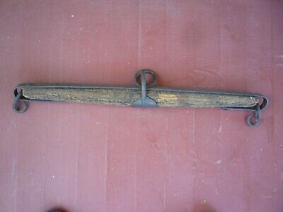 Antique Primitive  Wagon YOKE Harness  Wood & Cast Iron for Ox Cattle