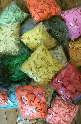 3D Origami Triangles Folded Pieces 5 color each color 200pic ... | 400x261