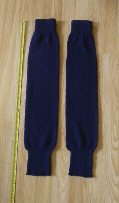 Vintage Womens Navy Leg Warmers 1980's Good Condition