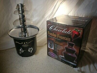 Nostalgia Chocolate Fondue Fountain CFF-600 Stainless Steel 2 Tier tested works
