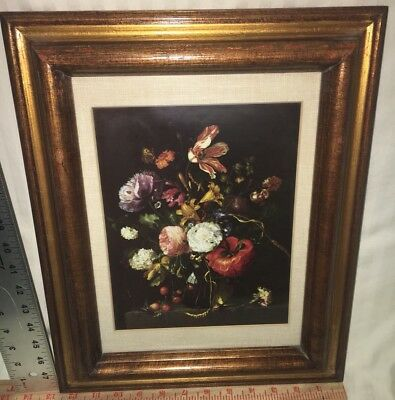 FLOWERS IN A GLASS VASE Antique Oil Painting. JACOB VAN WALSCAPPELLE (1644-1727)