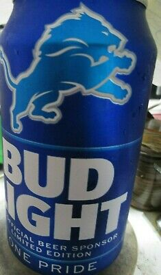 DETROIT LIONS 2019 NFL CANS. ONE PRIDE. BUD LIGHT. 12 oz. Can. Linited Edition.