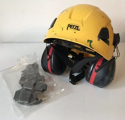Petzl Rope Access Helmet Yellow With Ear Defenders (Used)