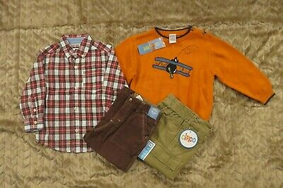 Gymboree Carter's Toddler Boys 2T 4 Piece Clothing Lot Outfits Sets Sweater NWT