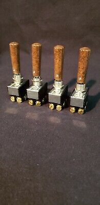 Toggle Switch Extensions (Wood Burl Finish). Aluminum Billet Hydraulic Lowrider