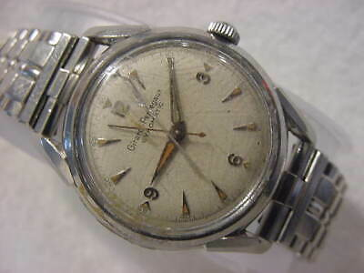 Vintage large antique WWII MILITARY / Art Deco GIRARD PERREGAUX GYROMATIC watch
