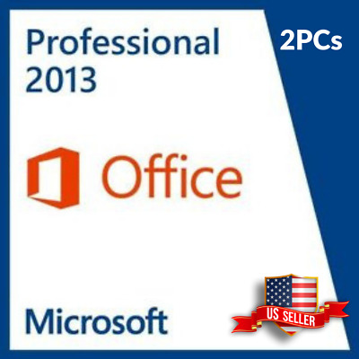 MICROSOFT OFFICE 2013 Professional 32/64 Bit Retail for 2 PC