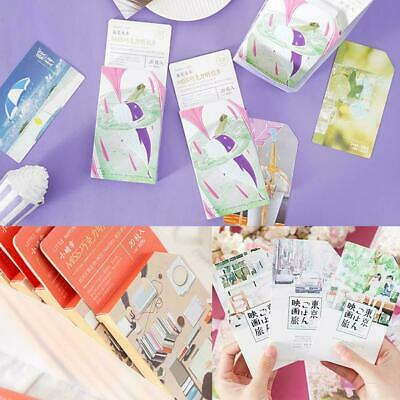 20Pcs/set Retro Style Collection Bookmark Paper creative Gifts card hand-pa J7Q5