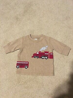 Gymboree Boys Train Shirt Size 3-6 Months