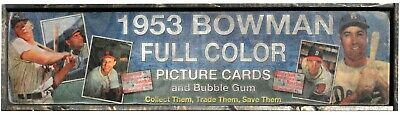 """AWESOME Vintage Style 1953 Bowman  Baseball  Wooden Sign  Mantle Snider 6""""x24"""""""